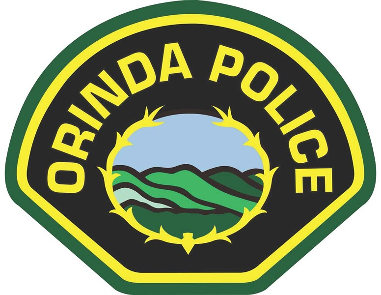 On any given night, Orinda has two police cars on patrol. - ORINDA PD