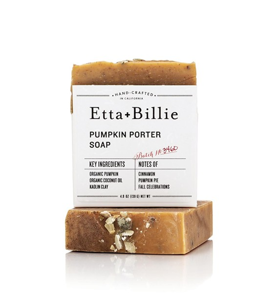 Pumpkin Porter soap from Etta + Billie.
