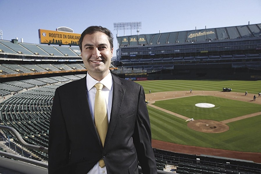 A's President Dave Kaval says the team recently sent a proposal to reopen the Coliseum to Alameda County health officials. - PHOTO COURTESY OF OAKLAND ATHLETICS