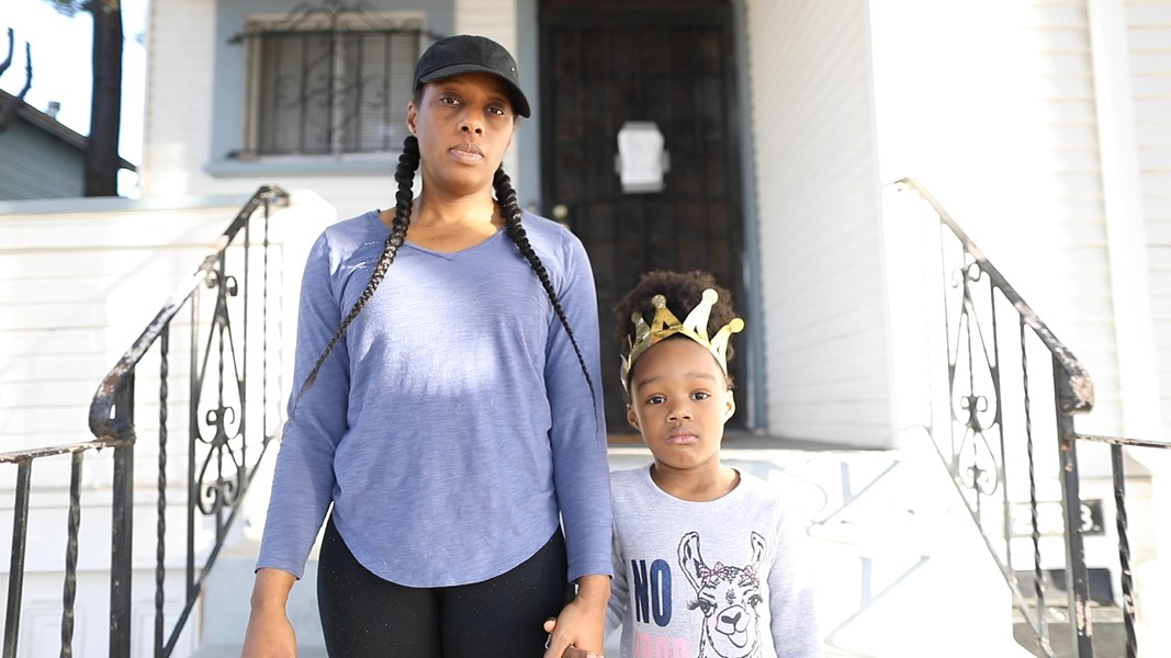 The group calling itself Moms 4 Housing moved into a vacant home in Oakland last fall to highlight corporate speculators buying properties and sitting on them during the housing crisis. - MOMS 4 HOUSING