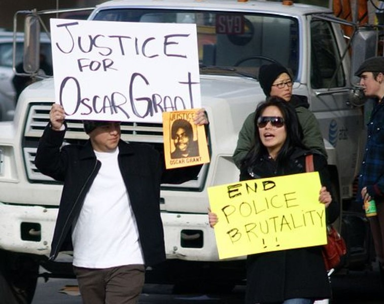 Oscar Grant's family members held a press conference on Monday at the Fruitvale BART station urging for the reopening of the case involving his death. - FILE PHOTO