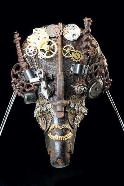 STEAMFUNK: Richardson's masks could be from Wakanda. - PHOTOS COURTESY OF JULEE RICHARDSON
