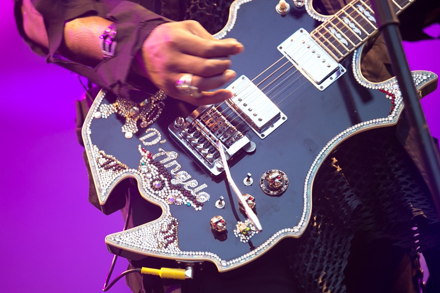 D'Angelo's guitar. - BERT JOHNSON