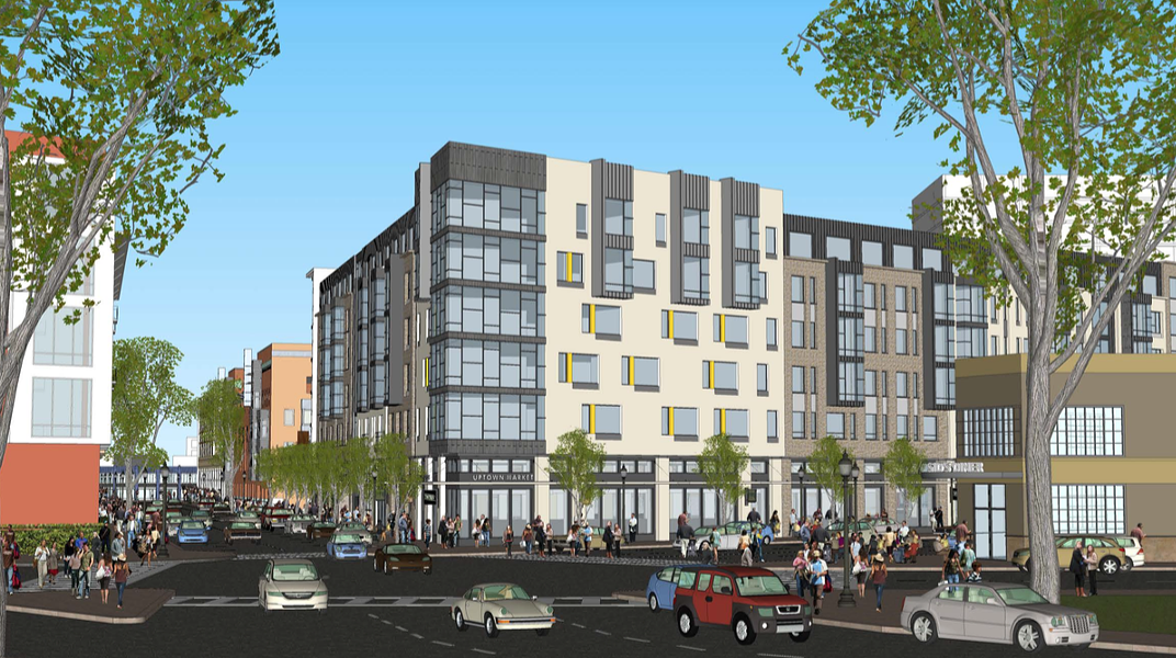 1800 San Pablo would bring new housing, retail, and car parking to Uptown. - SUNFIELD DEVELOPMENT