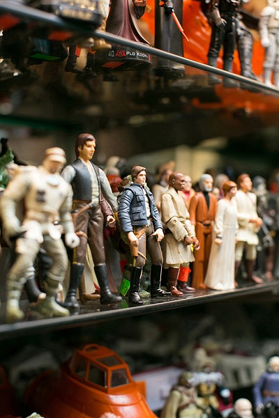 Vintage Star Wars action figures at Toy Safari. - BERT JOHNSON