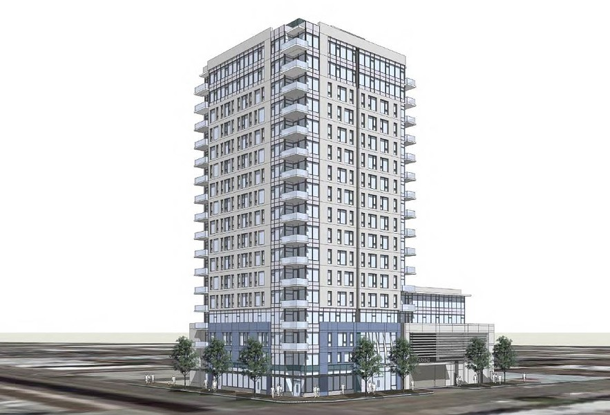 Bay Development Group's apartment tower would replace a surface parking lot at the corner of 14th Street and Alice Street.
