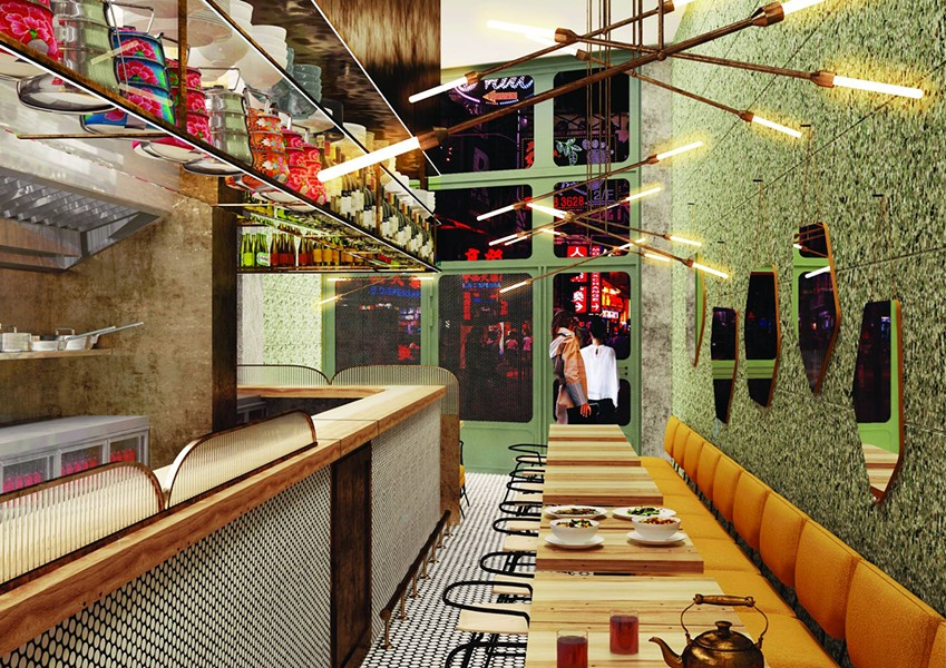 The interior of Juhu Beach Club's newly opened location in Hong Kong. - JUHU BEACH CLUB