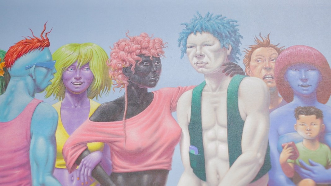 "A detail from ""Stylin' Youth Redefine the Meaning of Skin Color"" by Guy Colwell. - BERT JOHNSON"