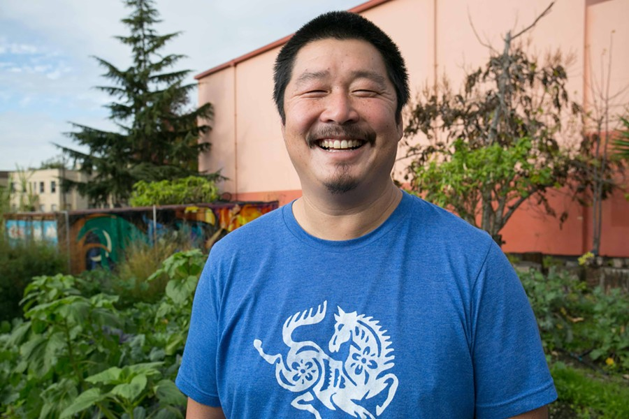 Matt Tsang is the garden teacher at Willard Middle School. - BERT JOHNSON
