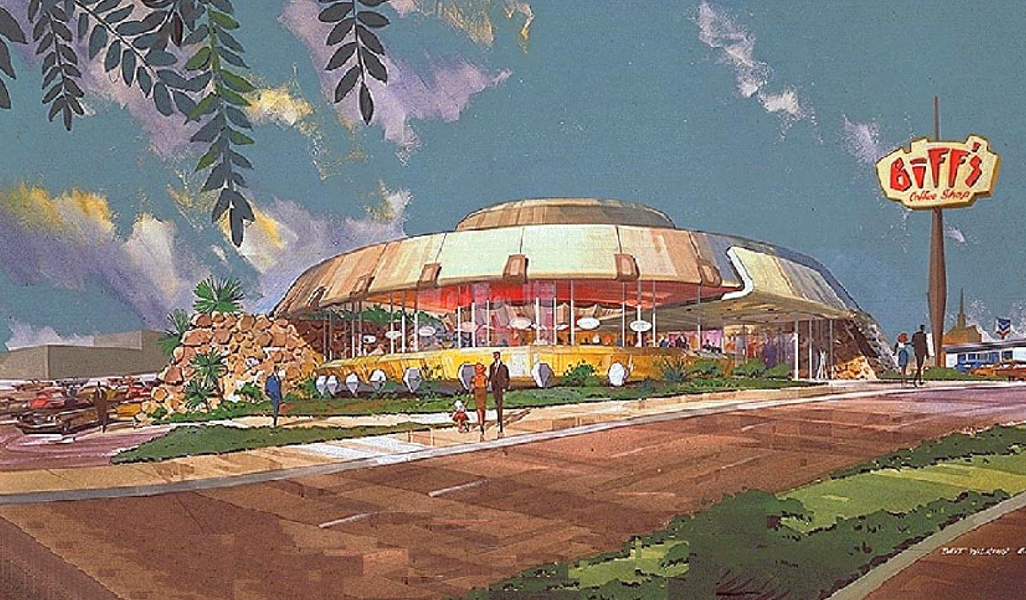 Artist's rendering of what a renovated Biff's Coffee Shop could look like.