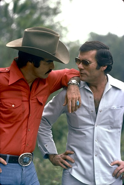 Burt Reynolds (L) and Hal Needham in The Bandit.