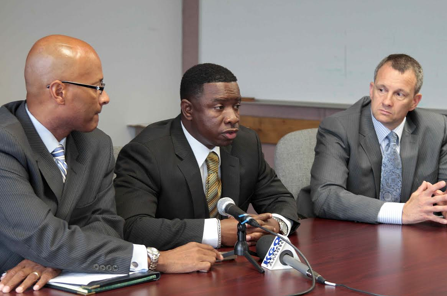OPD Sergeant Mike Gantt (center) in 2011. - ALI WINSTON