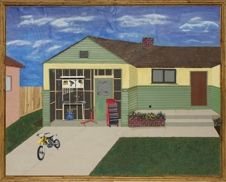 Bobby Dean Evans' portrait of his old garage.