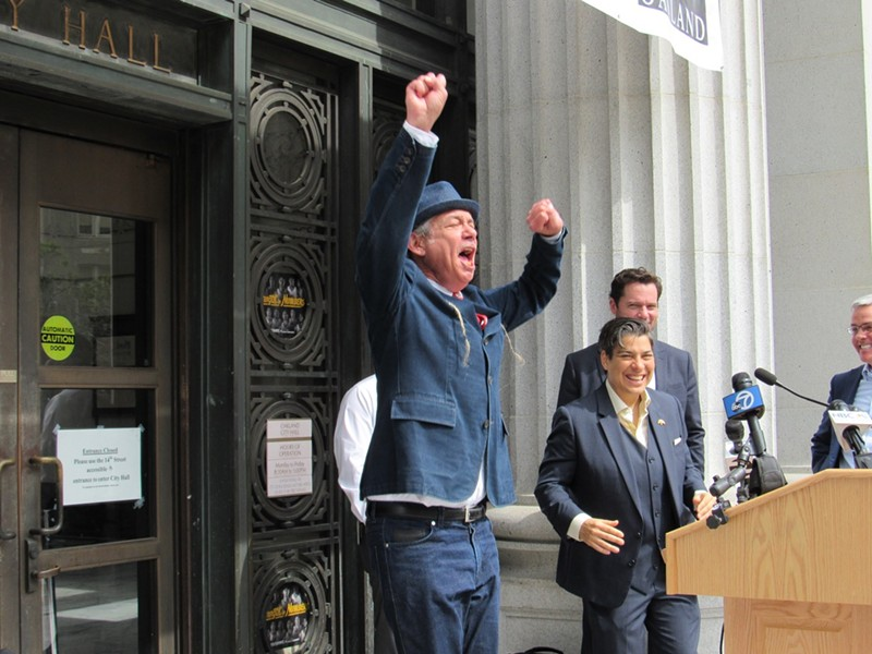 Oakland dispensary operator Steve DeAngelo reacts in a related case. - PHOTO BY DAVID DOWNS