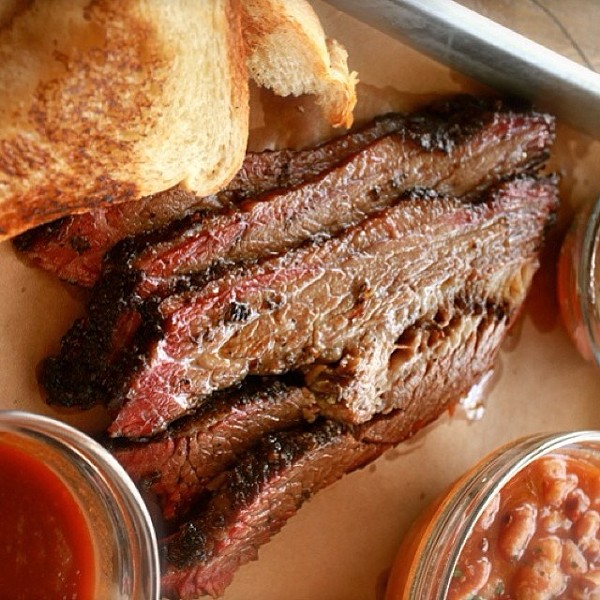 B-Side's smoked brisket.