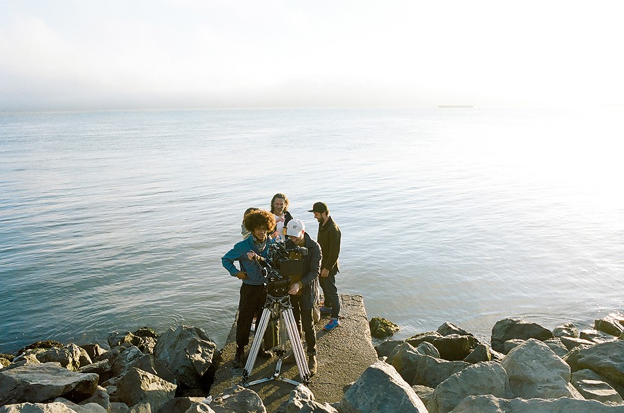 Joe Talbot and crew film near the water. American Paradise will screen at SFFILM this month. - COURTESY PHOTO