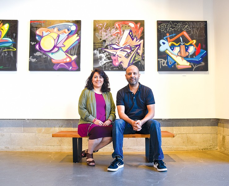 Maria and Tim Sanchez inside Sanchez Contemporary - PHOTO BY BRIAN BRENEMAN