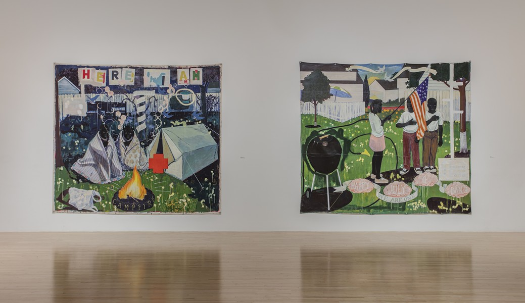Kerry James Marshall's Mastry at MOCA Grand Avenue. - PHOTO BY BRIAN FOREST