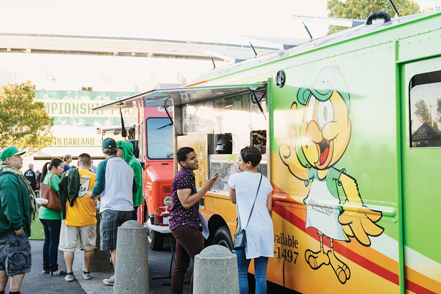 Clearly, the new food trucks are popular with fans. - ANDRIA LO