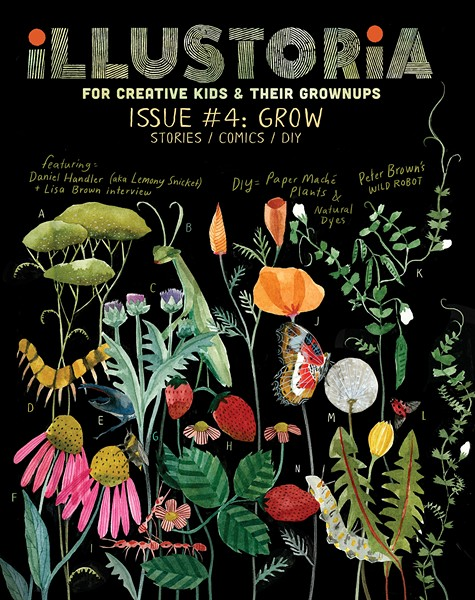 The front cover of Illustoria's fourth issue, Grow.