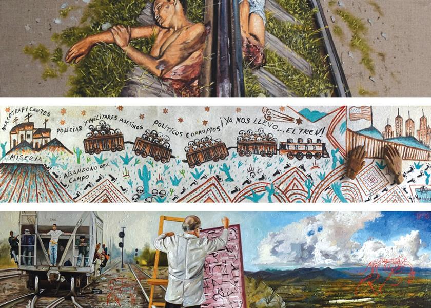 Art by various artists part of the exhibit. - PHOTO CREDIT: OFICINA MARDONIO CARBALLO