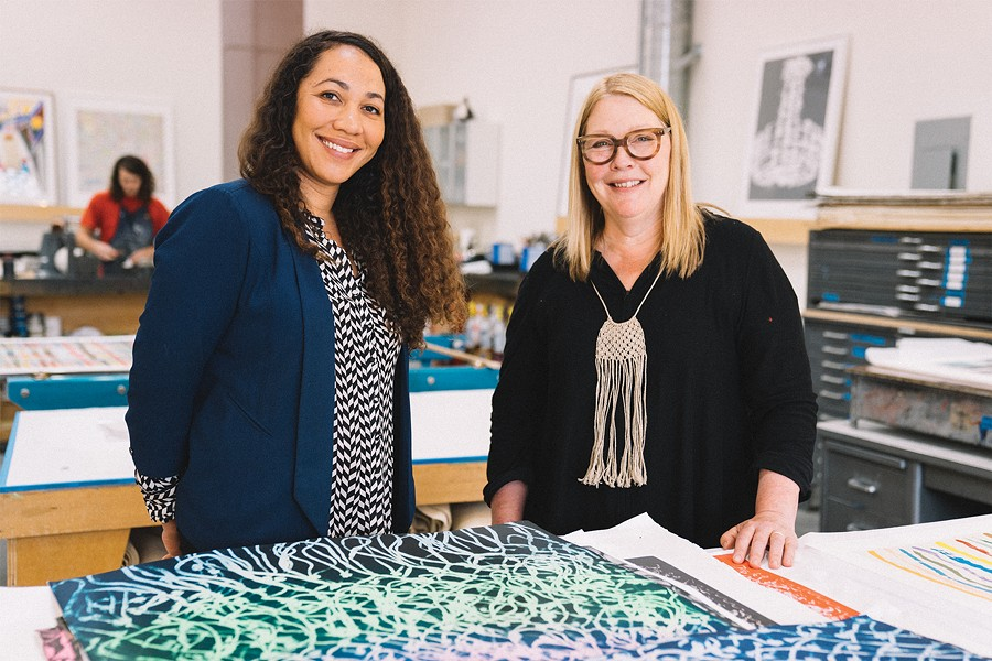 Pam Paulson (right, shown here with Rhea Fontaine) - PORTRAIT BY TALIESIN GILKES-BOWER