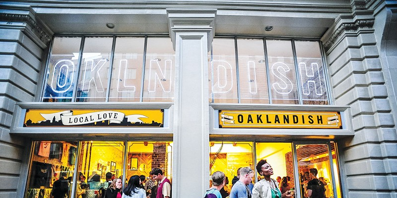 LOCAL LEGEND: Oaklandish's Downtown Oakland location is a cultural hub.
