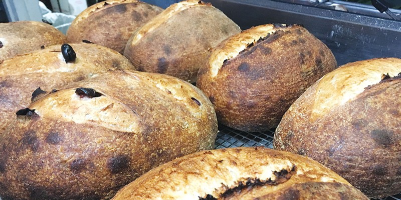 LOAFING AROUND:  Freshly baked bread is an eternal draw at Nick's Pizza.