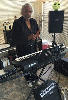 Tim Jones at home in Oakland with his Casio.