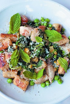 The Parisian gnocchi are packed with flavor thanks to preserved lemon and miso brown butter.