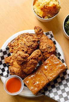 The rosemary fried chicken is exceptionally juicy.