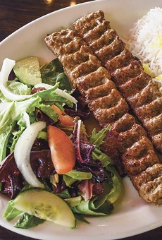 The humble yet delicious koobideh kababs are made with ground meats.