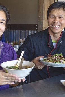 """Kwanjira (""""Ann"""") and her husband, Bunpot (""""Chef Paul"""") Chan, of Larb Thai Food & Tapas, have a vision to cook traditional entrées and popular street food especially for Thai palates."""