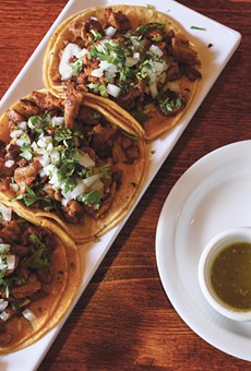The al pastor tacos are brimming with warm, comforting spices.