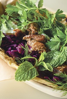 The lamb flatbread at Fava is a best seller.