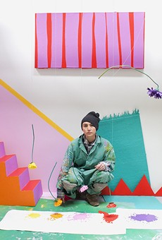 Sofie Ramos  inside her installation.
