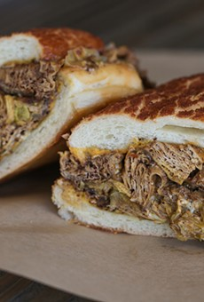 The Philly Cheeze Melt is one of the most decadent vegan sandwiches in town.