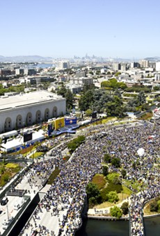 Photos: Warriors Celebrate Second Title in Three Years with Parade and Rally in Oakland