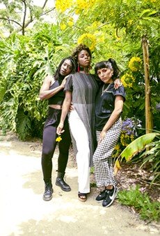 From left to right, the hosts of Las Brujas Radio: Imani Atlantic, Queens D Light and Nono (aka Namaste Shawty)