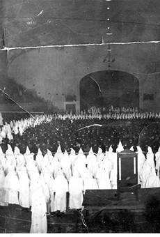 In 1925, 8,500 Ku Klux Klan members held a giant-cross burning inside what is now known as Kaiser Convention Center in Oakland.