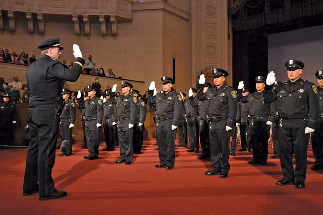 Graduates of the 168th Oakland police academy in 2014 included officers later suspected of wrongdoing. - PHOTO COURTESY OF OPD