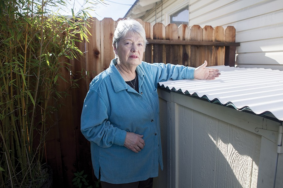 Sylvia Hopkins has found toxic dust from coal and petcoke shipments on her home. - PHOTO BY TAYLOR JOHNSON