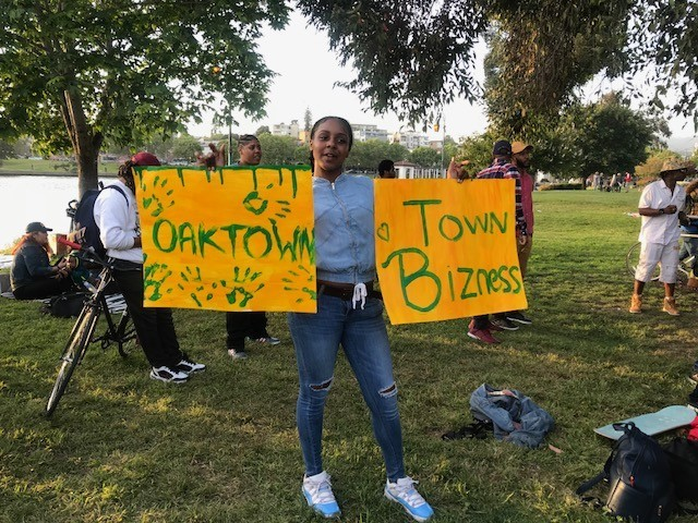 Last Thursday, #510Day, locals gathered at Lake Merritt to protest and party. - AZUCENA RASILLA