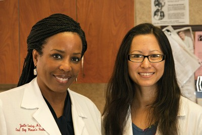 Dr. Yvette Gentry (left) and Certified Nurse Midwife Audrey Muto.