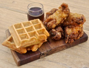 Waffles and necks. - THE HALF ORANGE