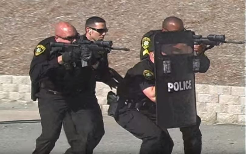 A still image from an Oakland Housing Authority police recruitment video. - OAKLAND HOUSING AUTHORITY