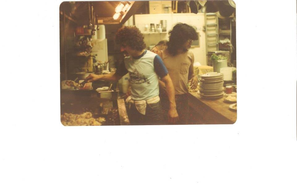 The kitchen, back in the early days (via Facebook).
