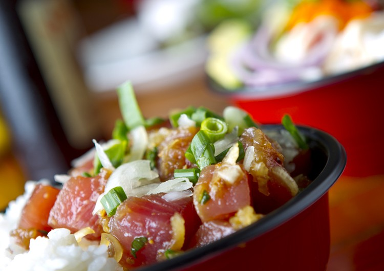 Traditional poke at Pa'Ina Cafe in Oahu, which will be in the Bay this weekend at the I Love Poke Festival.