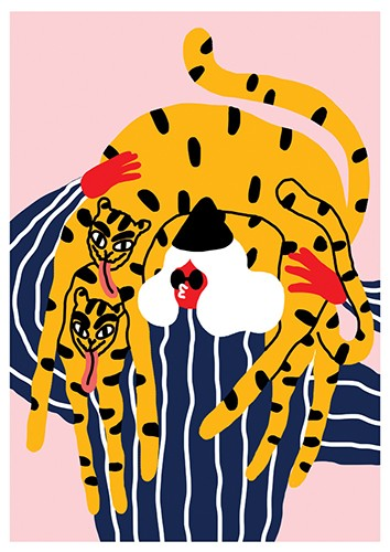 Egle Zvirblyte's 'Girl, Tiger, Tiger'. - COURTESY OF GOOD MOTHER GALLERY