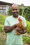 Rodney Spencer of City Slicker Farms is featured in the exhibit.